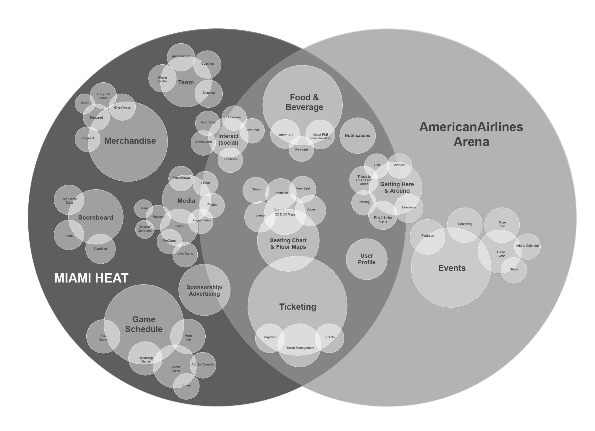 Miami Heat and Arena Concept Map